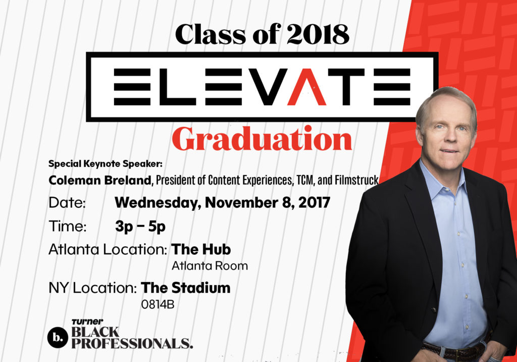 Graphic Designs: ELEVATE 2018 Graduation Flyer for WarnerMedia.  Design done by Zakiya Davidson.