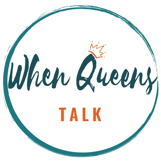 When Queens Talk & Queen Conversations Logo Design.  Designed and Developed by Zakiya Davidson.